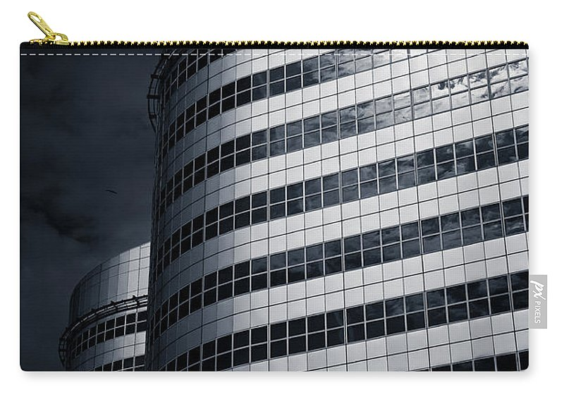 Architecture Carry-all Pouch featuring the photograph Lines And Curves by Dave Bowman