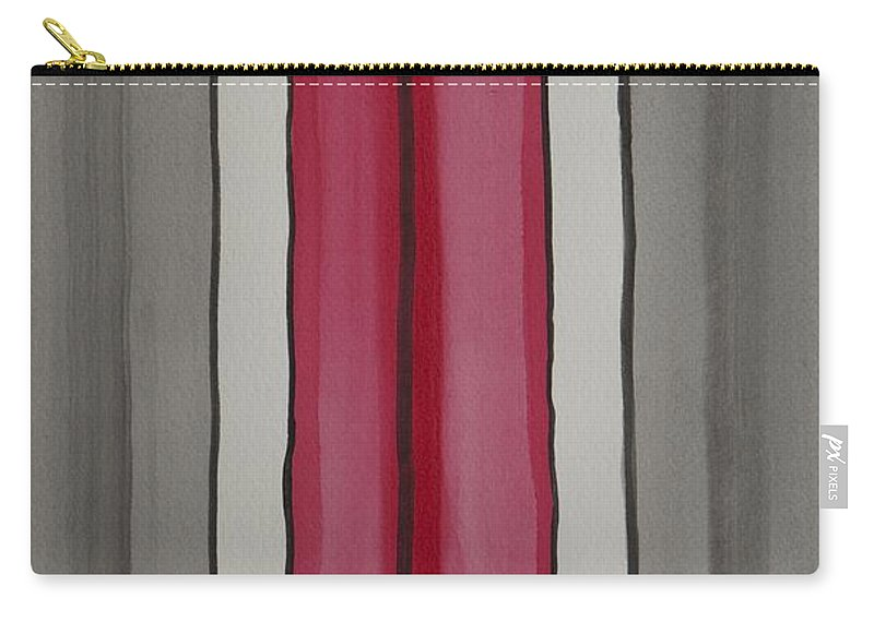 Red Carry-all Pouch featuring the painting Lines by Jacqueline Athmann