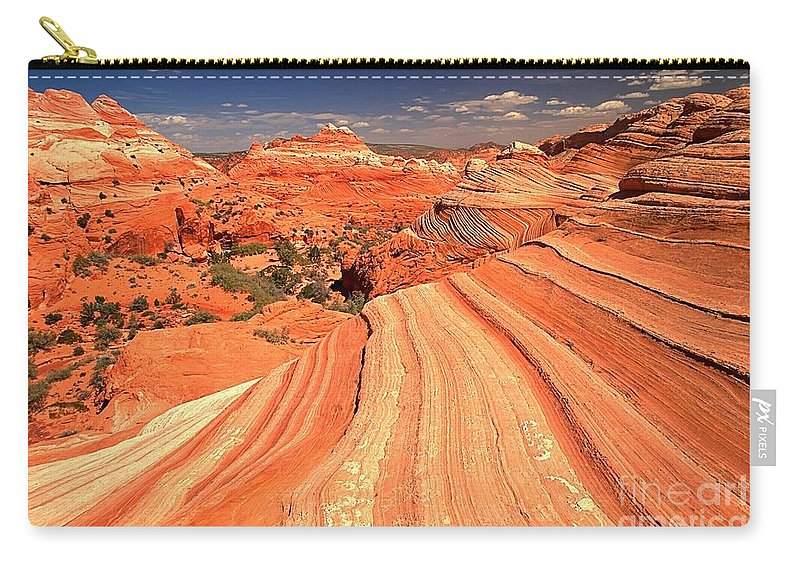 North Coyote Buttes Carry-all Pouch featuring the photograph Lines To Magnificence by Adam Jewell