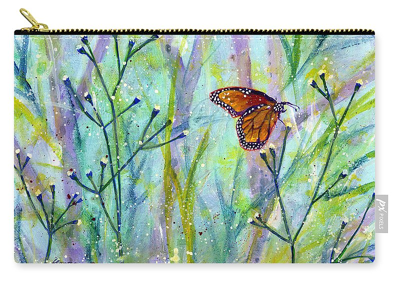 Butterfly Carry-all Pouch featuring the painting Lingering Memory 1 by Hailey E Herrera