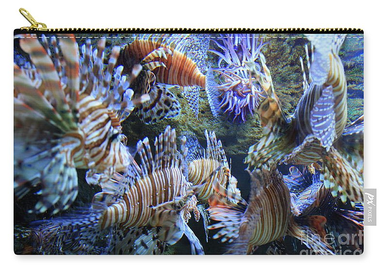 Lion Fish Carry-all Pouch featuring the photograph Lion Fish by Carol Groenen