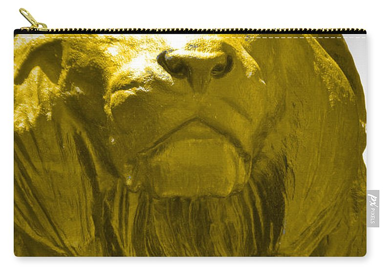Baltimore Carry-all Pouch featuring the photograph Lion Gold by Jost Houk