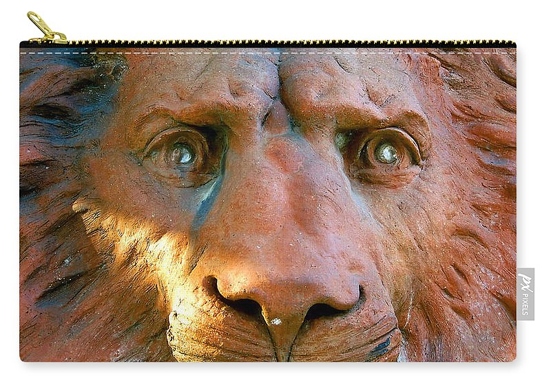 Saint Augustine Florida Carry-all Pouch featuring the photograph Lion Of Saint Augustine by David Lee Thompson