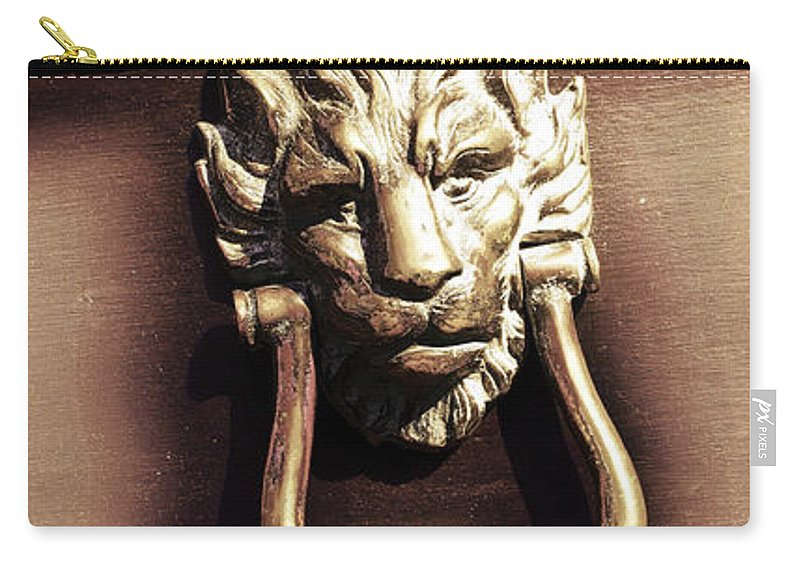 Abstract Carry-all Pouch featuring the photograph Lion's Den by Tom Gowanlock