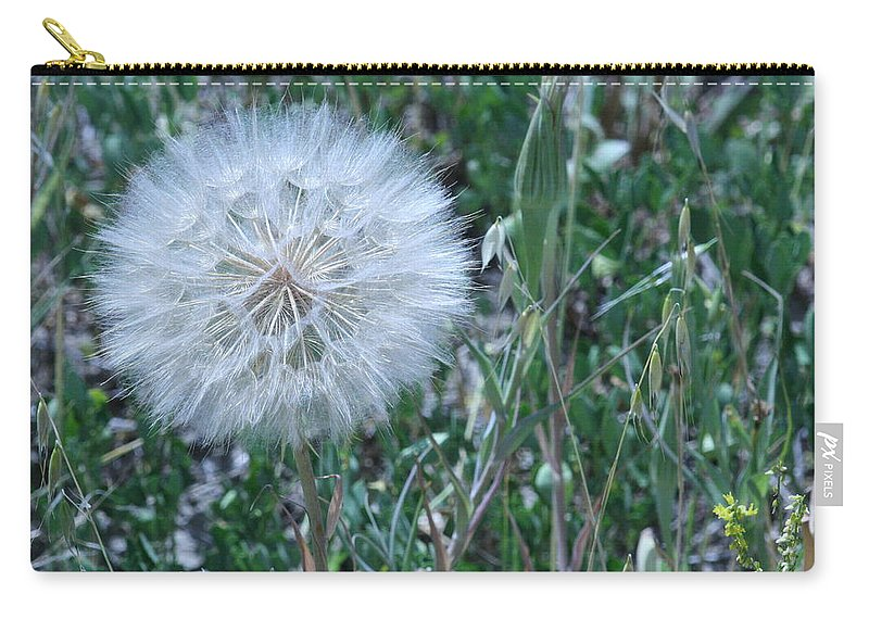 Floral Carry-all Pouch featuring the photograph Lion's Tooth by Mary Mikawoz