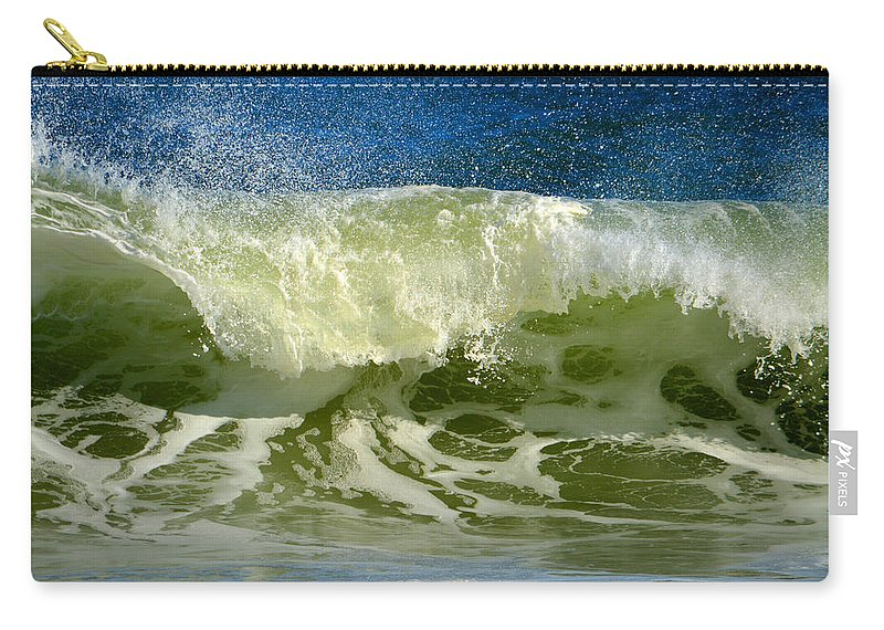 Ocean Carry-all Pouch featuring the photograph Liquid Thunder by Dianne Cowen