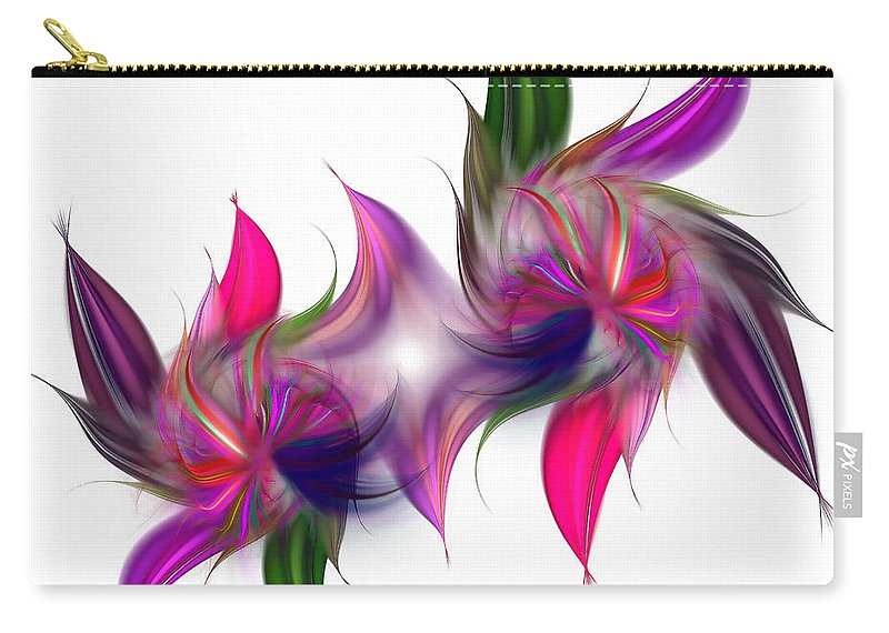 Abstract Carry-all Pouch featuring the digital art Liquidity Of Math by Georgiana Romanovna