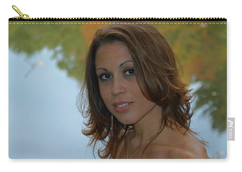 Model Carry-all Pouch featuring the photograph Lisa by Mike Martin