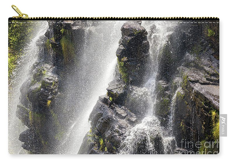Africa Carry-all Pouch featuring the photograph Lisbon Falls, South Africa. by Jane Rix