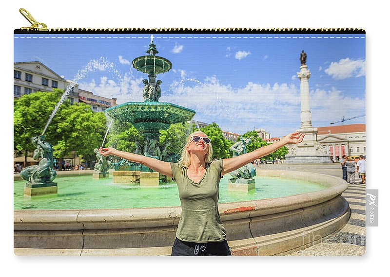Lisbon Carry-all Pouch featuring the photograph Lisbon Tourism Concept by Benny Marty