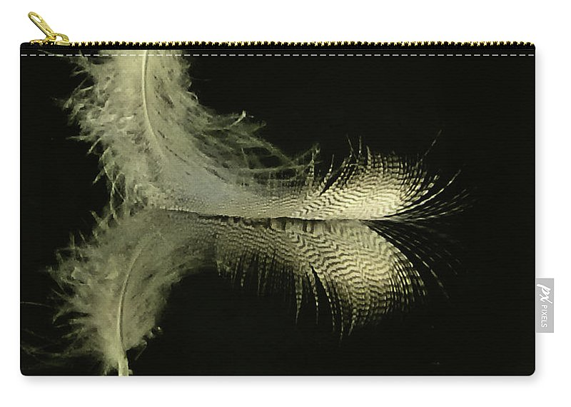 Quill Carry-all Pouch featuring the photograph Lite As A Feather by Sharon Rolland