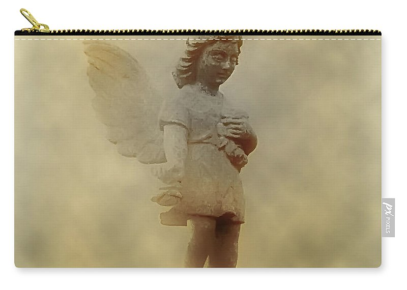 Angel Carry-all Pouch featuring the photograph Little Angel In The Clouds by Bill Cannon