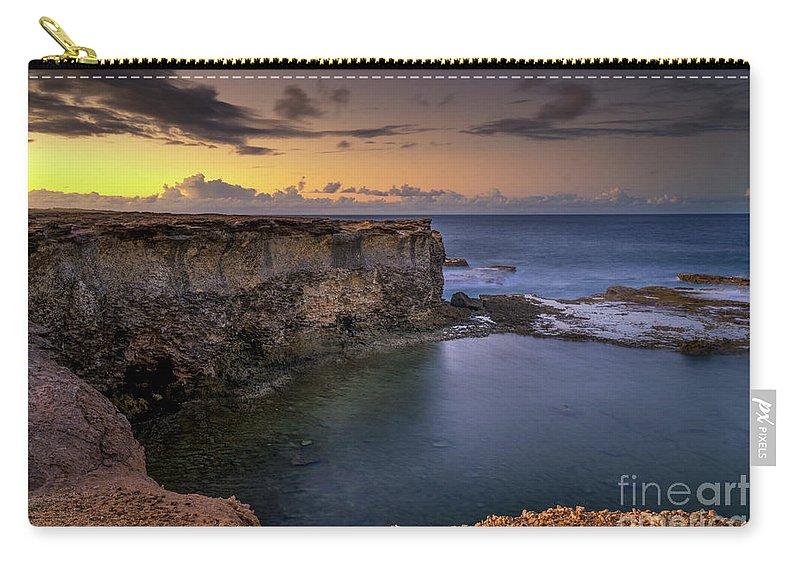 2017 Carry-all Pouch featuring the photograph Little Bay North At 530 by Hugh Walker
