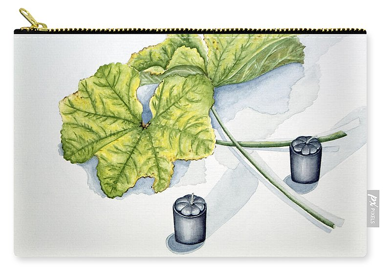 Candles Carry-all Pouch featuring the painting Little Black Candles by Judy Henninger