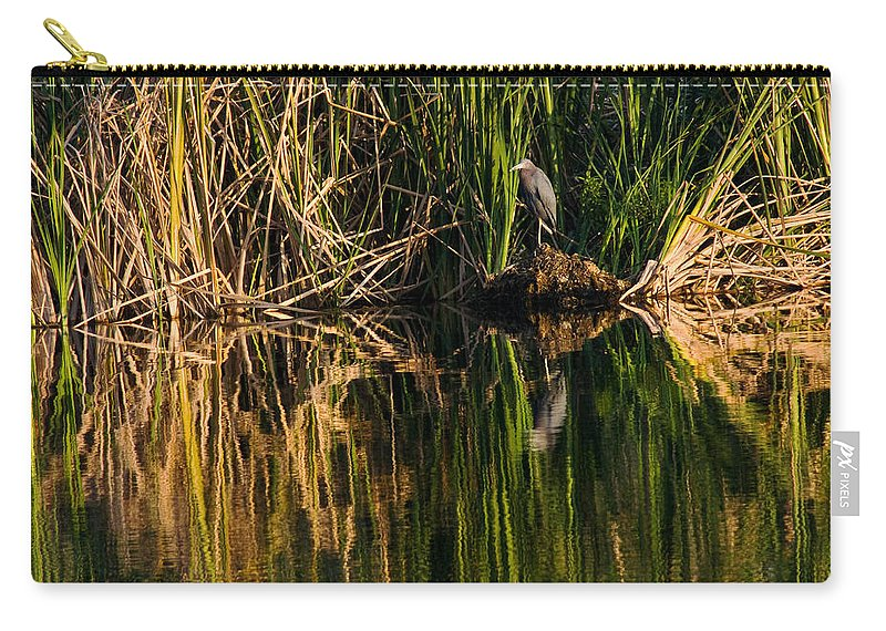 Heron Carry-all Pouch featuring the photograph Little Blue Heron by Steven Sparks