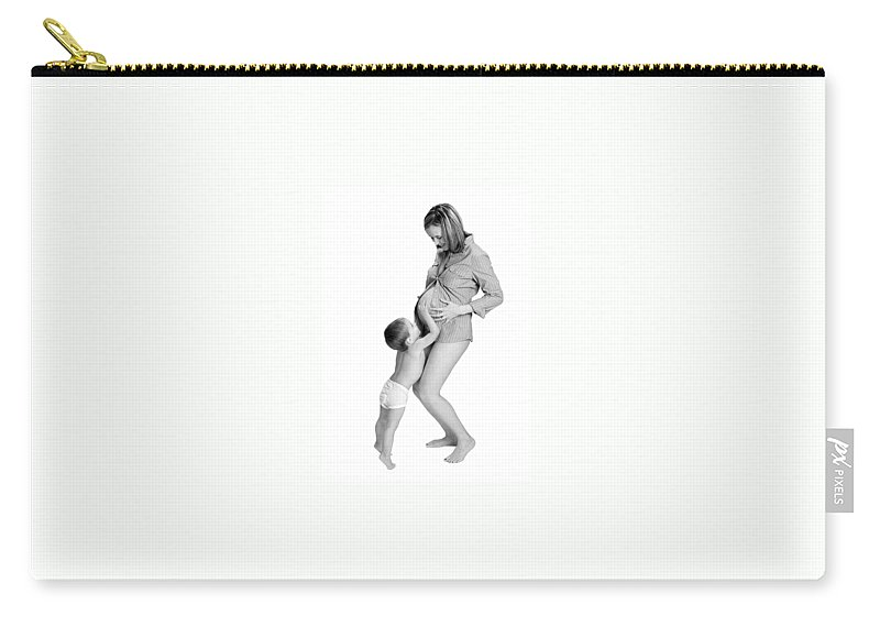 Maternity Carry-all Pouch featuring the photograph Little Brother by Herman Robert