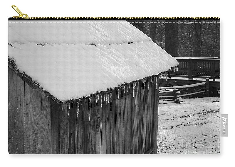 Landscape Carry-all Pouch featuring the photograph Little Brown Shed by Eric Liller