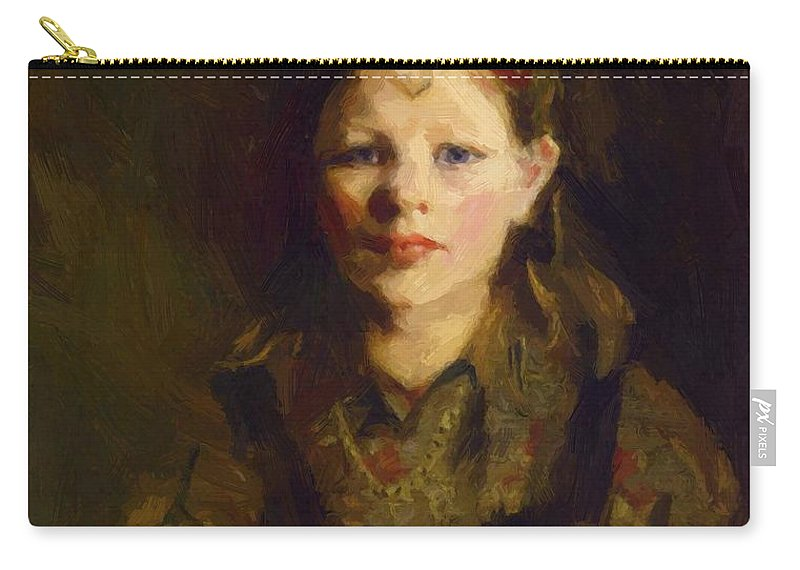 Little Carry-all Pouch featuring the painting Little Dutch Girl by Henri Robert
