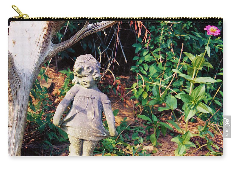 Still Life Carry-all Pouch featuring the photograph Little Flowergirl by Jan Amiss Photography
