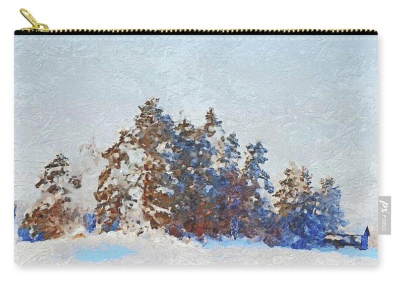 Winter Carry-all Pouch featuring the photograph Little Forest by Pekka Liukkonen