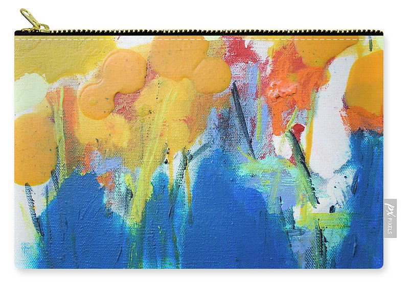 Abstract Carry-all Pouch featuring the painting Little Garden 02 by Claire Desjardins