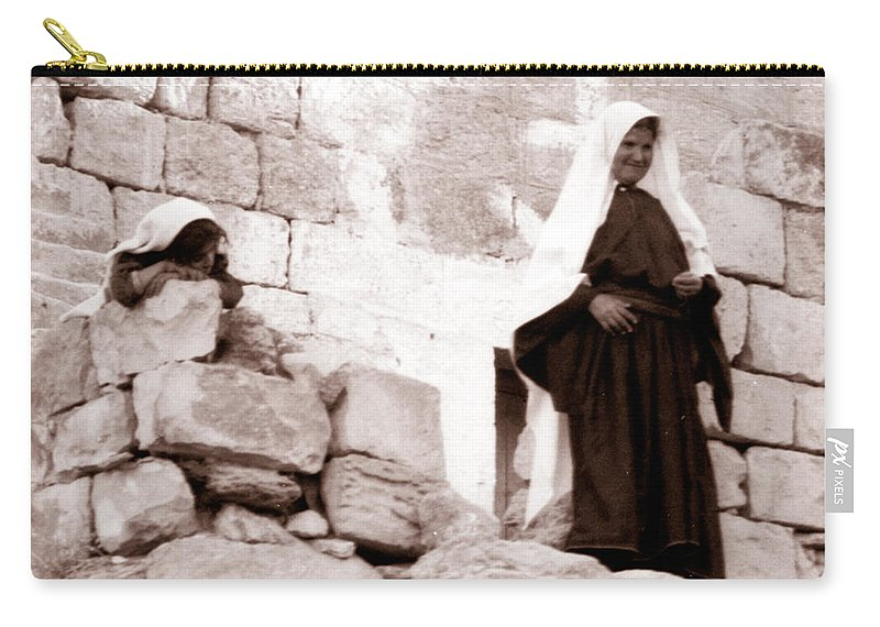 Bethlehem Carry-all Pouch featuring the photograph Little Girl In 1946 by Munir Alawi