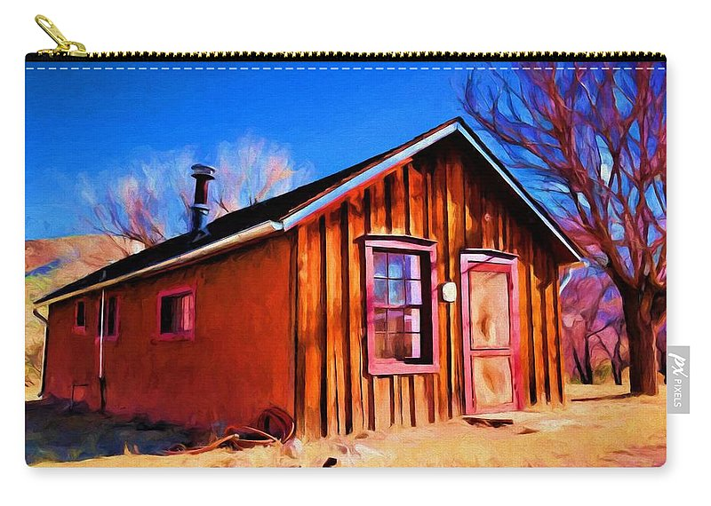 Little House Carry-all Pouch featuring the painting Little House In Lincoln by Jim Buchanan