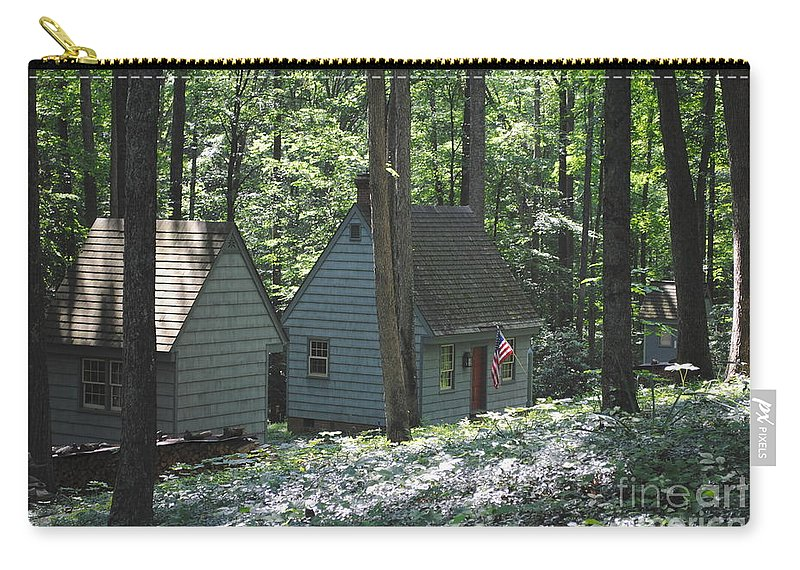 Little Carry-all Pouch featuring the photograph Little House In The Woods by Jost Houk