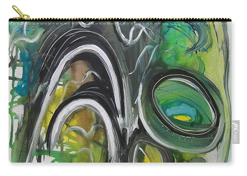 Abstract Paintings Carry-all Pouch featuring the painting little impression on Alexander trail by Seon-Jeong Kim