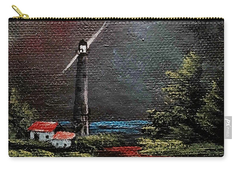 Lighthouse Carry-all Pouch featuring the painting Little Light by Glen Mcclements