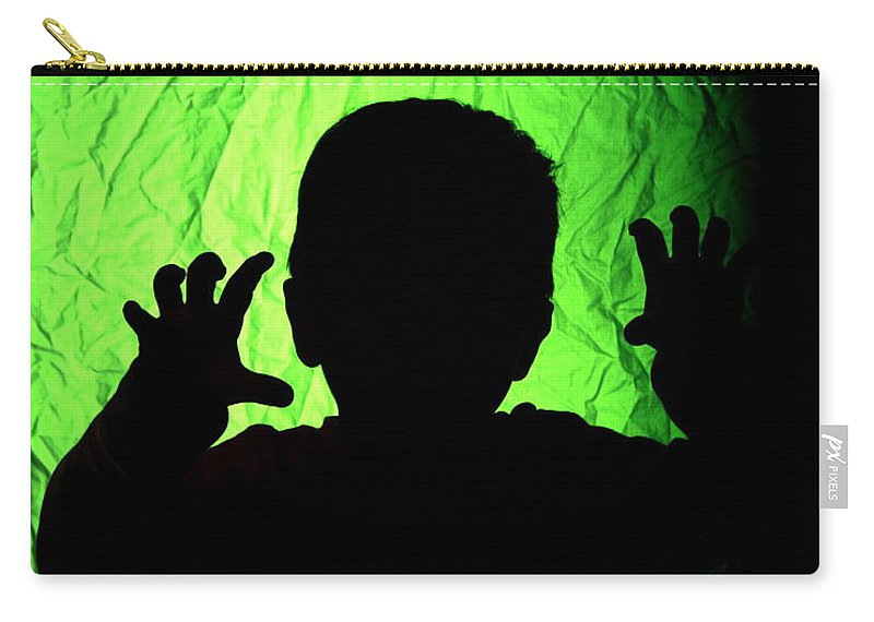 Green Carry-all Pouch featuring the photograph Little Monster by Rick Monyahan
