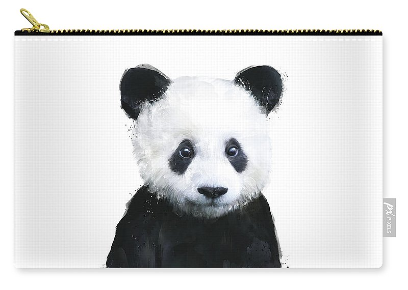 Panda Carry-all Pouch featuring the painting Little Panda by Amy Hamilton