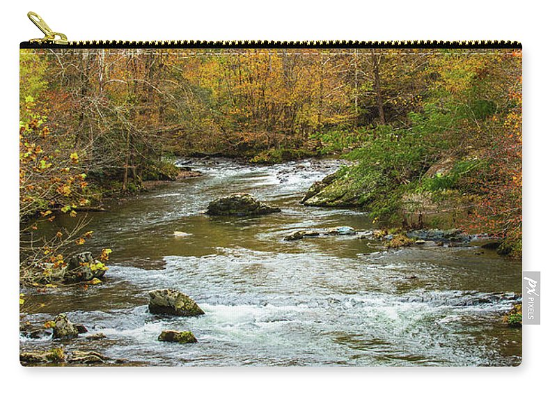 Smoky Mountains Carry-all Pouch featuring the photograph Little Pigeon River In Fall Smoky Mountains National Park by Carol Mellema
