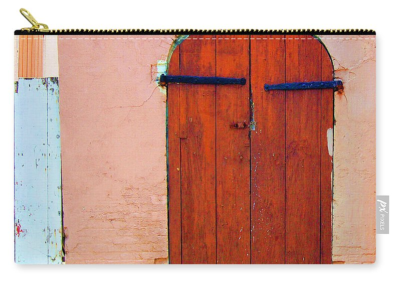 Door Carry-all Pouch featuring the photograph Little Pink House by Debbi Granruth