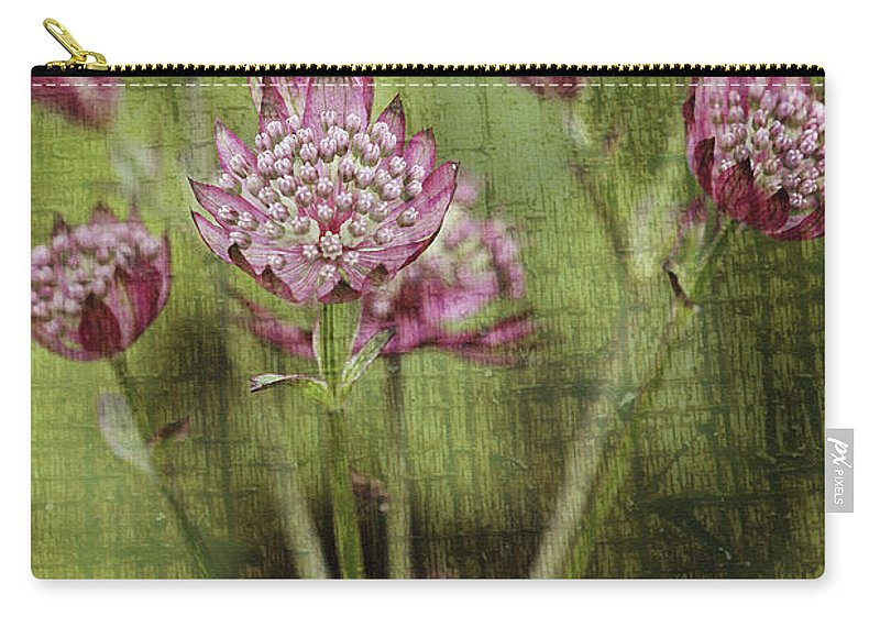 Flowers Carry-all Pouch featuring the photograph Little Pink Jewels by Deborah Benoit