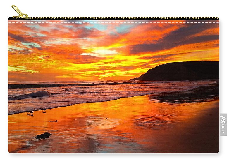 Sea Birds Carry-all Pouch featuring the photograph Little Plovers by JoJo Brown