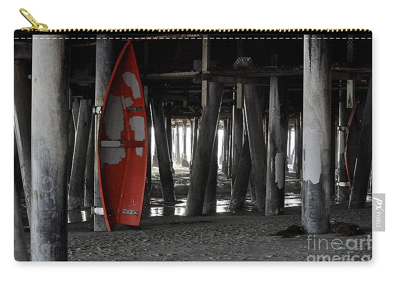 Clay Carry-all Pouch featuring the photograph Little Red Boat by Clayton Bruster