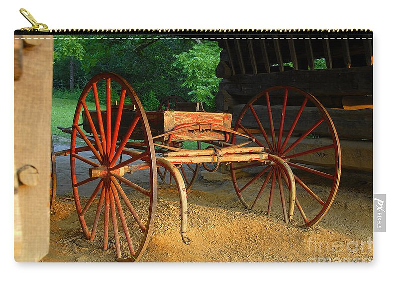 Red Carry-all Pouch featuring the photograph Little Red Buggy by David Lee Thompson