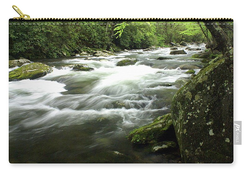 Little River Carry-all Pouch featuring the photograph Little River 3 by Marty Koch