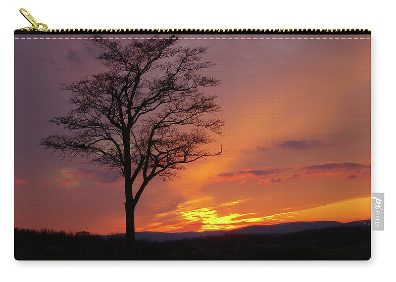 Gettysburg Carry-all Pouch featuring the photograph Little Round Top Sunset by Jen Goellnitz