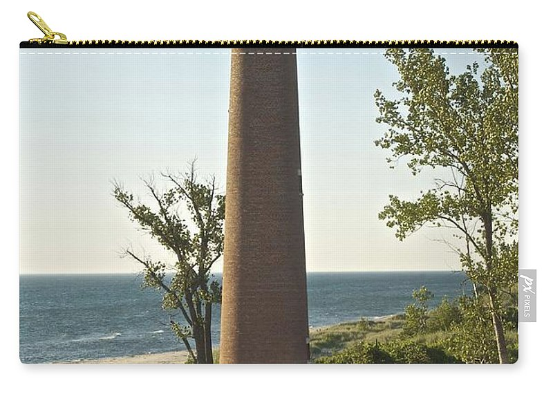 Little Sable Point Light Carry-all Pouch featuring the photograph Little Sable Point Light by Michael Peychich