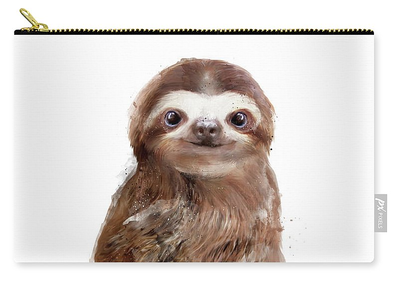 Sloth Carry-all Pouch featuring the painting Little Sloth by Amy Hamilton