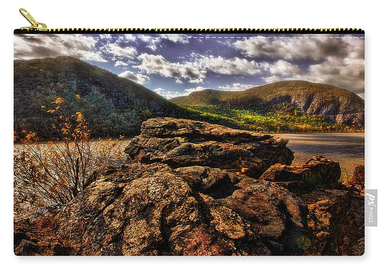 Rocks Carry-all Pouch featuring the photograph Little Stoney Point by Chris Lord