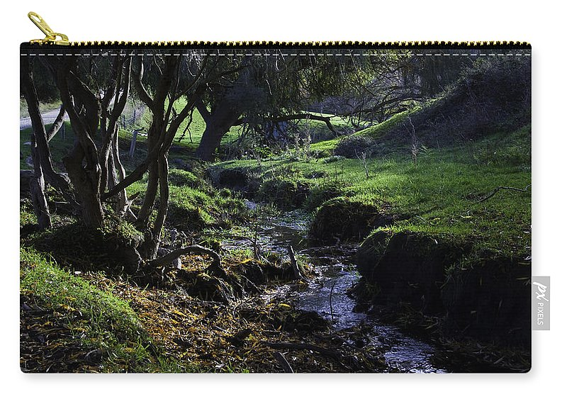 Stream Carry-all Pouch featuring the photograph Little Stream by Kelly Jade King