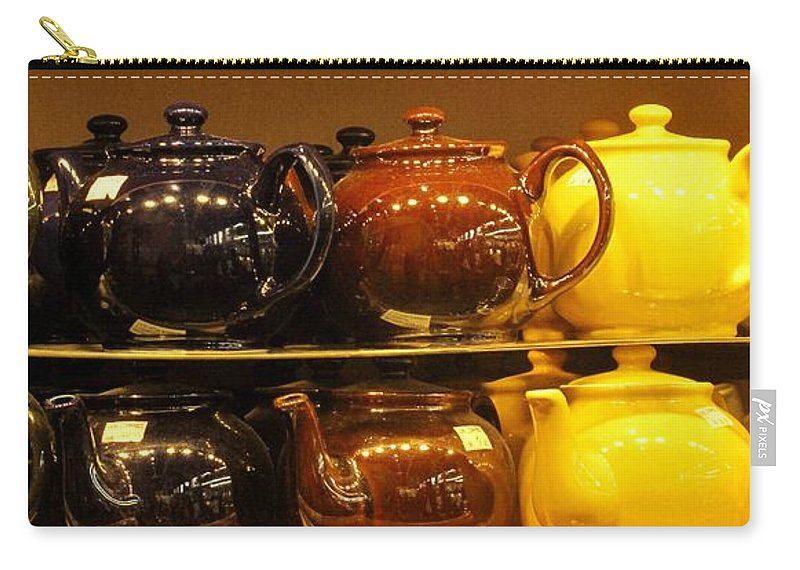 Teapots Carry-all Pouch featuring the photograph Little Teapots by Ian MacDonald