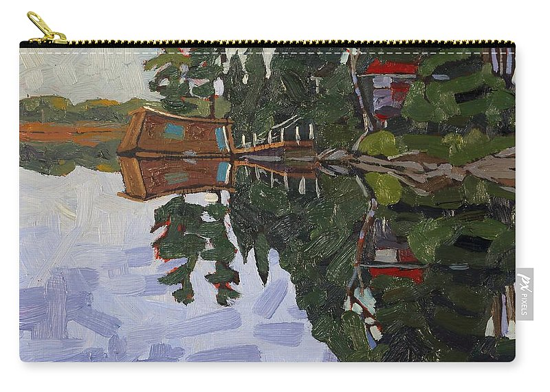 1866 Carry-all Pouch featuring the painting Little Wapomeo by Phil Chadwick