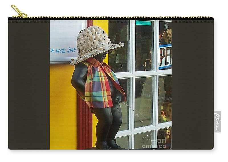 Fountain Carry-all Pouch featuring the photograph Little Wiz by Debbi Granruth