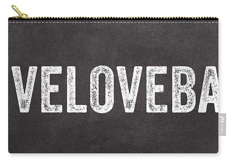 Live Carry-all Pouch featuring the mixed media Live Love Bake by Linda Woods