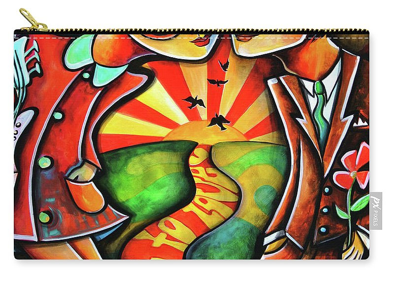 Art For Saleart Prints Carry-all Pouch featuring the painting Live To Love by Jennifer Main