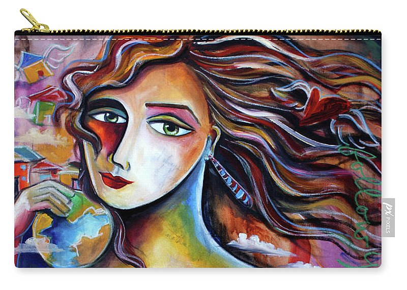 Art For Saleart Prints Carry-all Pouch featuring the painting Live Your Dream by Jennifer Main